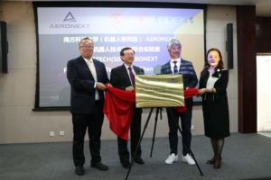 Unveil of the plate of SUSTECH(SIR)-AERONEXT Flying Robots Technology