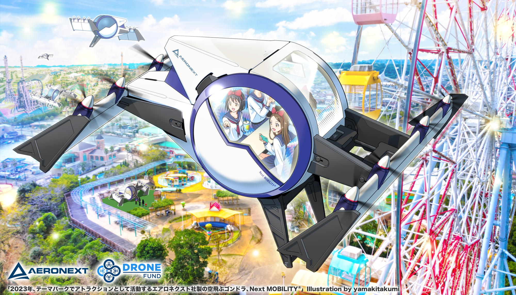 """Flying Gondola"" in amusement park (an image in the future)"